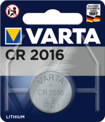 Литиева батерия CR2016, DL2016 - 3V - Varta CR 2016
