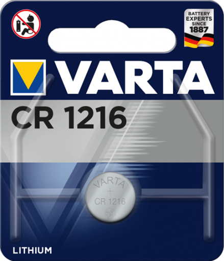 Литиева батерия CR1216, DL1216 - 3V - Varta  CR 1216